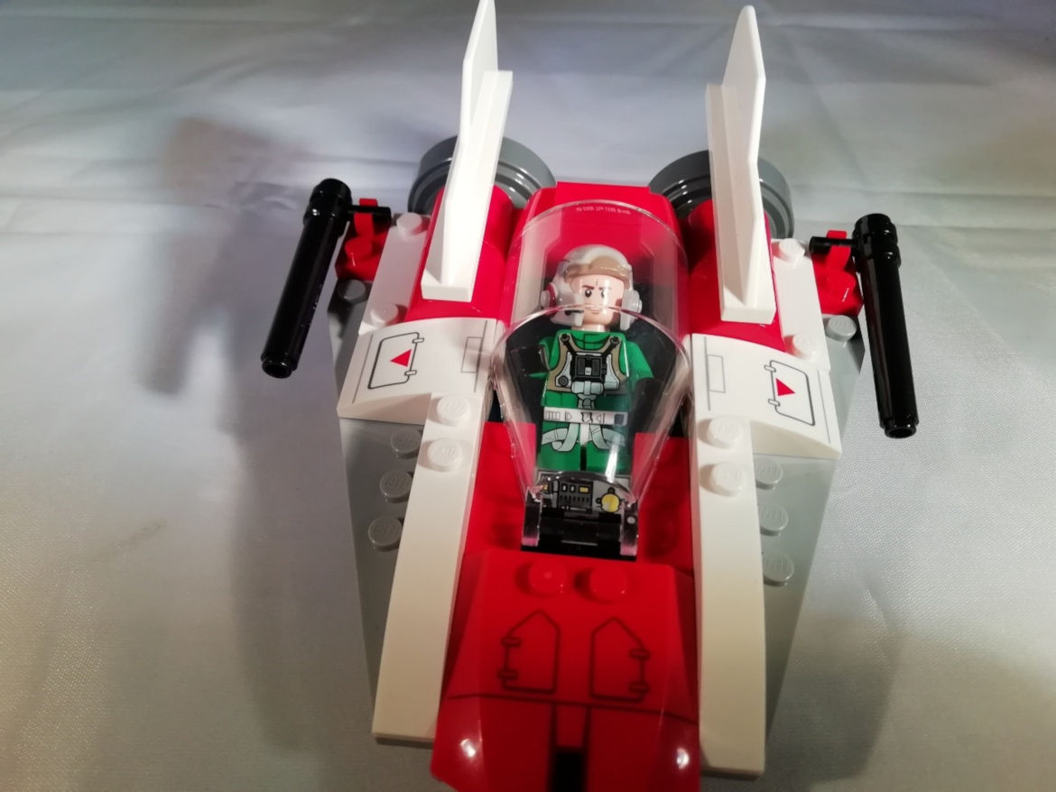 A-Wing Fighter mit Pilot