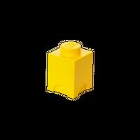 LEGO Aufbewahrungbox, eine Noppe, gelb