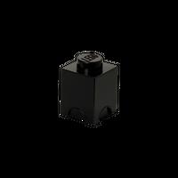 LEGO Aufbewahrungsbox, eine Noppe, schwarz