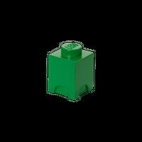 LEGO Aufbewahrungsbox, eine Noppe, dunkelgrün 001