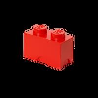 LEGO Aufbewahrungsbox, 2 Noppen, rot 001