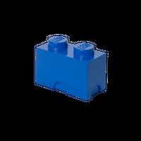 LEGO Aufbewahrungsbox, 2 Noppen, blau