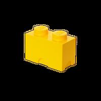 LEGO Aufbewahrungsbox, 2 Noppen, gelb