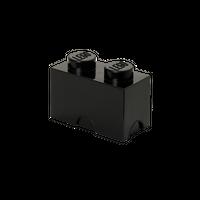 LEGO Aufbewahrungsbox, 2 Noppen, schwarz