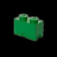 LEGO Aufbewahrungsbox mit 2 Noppen, grün 001