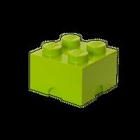 LEGO Aufbewahrungsbox, 4 Noppen, limettengrün