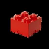 LEGO Aufbewahrungsbox, 4 Noppen, rot