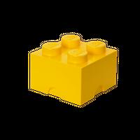 LEGO Aufbewahrungsbox, 4 Noppen, gelb