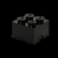 LEGO Aufbewahrungsbox, 4 Noppen, schwarz