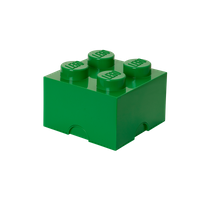 LEGO Aufbewahrungsbox, 4 Noppen, dunkelgrün