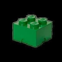 LEGO Aufbewahrungsbox, 4 Noppen, dunkelgrün 001