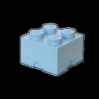 LEGO Aufbewahrungsbox, 4 Noppen, hellblau