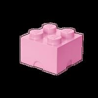 LEGO Aufbewahrungsbox, 4 Noppen, rosa 001