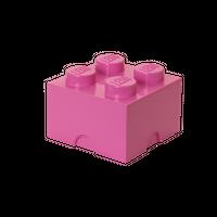 LEGO Aufbewahrungsbox, 4 Noppen, pink 001