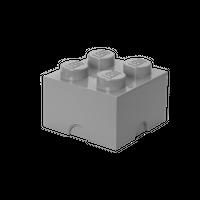 LEGO Aufbewahrungsbox, 4 Noppen, grau 001