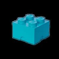 LEGO Aufbewahrungsbox, 4 Noppen, blau (medium azur)