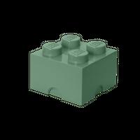 LEGO Aufbewahrungsbox, 4 Noppen,  sandgrün 001