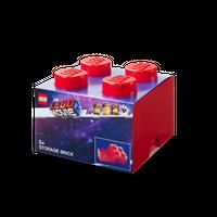 LEGO Aufbewahrungsbox, 4 Noppen,   LEGO MOVIE 2, rot