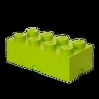 LEGO Aufbewahrungsbox, 8 Noppen, limettengrün