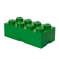 LEGO Aufbewahrungsbox, 8 Noppen, dunkelgrün