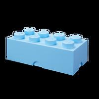 LEGO Aufbewahrungsbox mit acht Noppen - hellblau