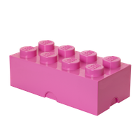 LEGO Aufbewahrungsbox mit 8 Noppen - pink