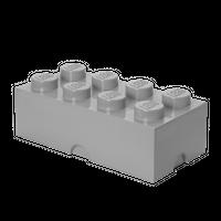 LEGO Aufbewahrungsbox, 8 Noppen, grau