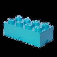 LEGO Aufbewahrungsbox mit 8 Noppen medium azur 001