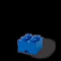 LEGO Aufbewahrungsbox mit Schublade mit 4 Noppen, blau