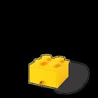 LEGO Aufbewahrungsbox mit Schublade mit 4 Noppen, gelb