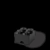 LEGO Aufbewahrungsbox mit Schublade mit 4 Noppen, schwarz