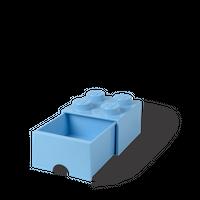 Bild LEGO Aufbewahrungsbox mit Schublade mit 4 Noppen, hellblau Vorschau