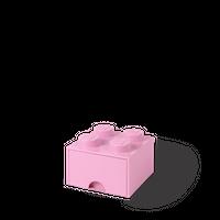 LEGO Aufbewahrungsbox mit Schublade mit 4 Noppen, rosa