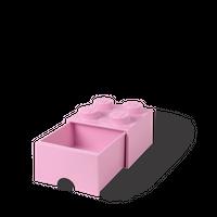Bild LEGO Aufbewahrungsbox mit Schublade mit 4 Noppen, rosa Vorschau