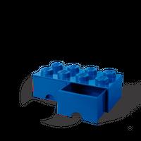 LEGO Aufbewahrungsbox mit Schublade mit 8 Noppen, blau 001