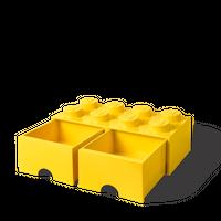 LEGO Aufbewahrungsbox mit Schublade mit 8 Noppen, gelb