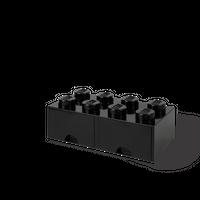 LEGO Aufbewahrungsbox mit Schublade mit 8 Noppen, schwarz
