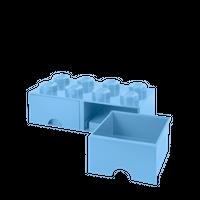 Bild LEGO Aufbewahrungsbox mit Schublade mit 8 Noppen, hellblau Vorschau