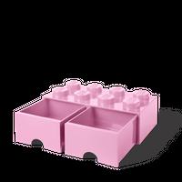 LEGO Aufbewahrungsbox mit Schublade mit 8 Noppen, rosa 001