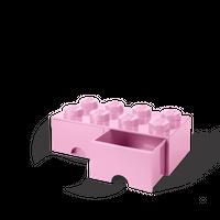 Bild LEGO Aufbewahrungsbox mit Schublade mit 8 Noppen, rosa Vorschau