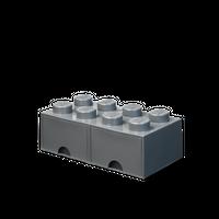LEGO Aufbewahrungsbox mit Schublade mit 8 Noppen, Dunkelgrau 001