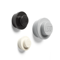 LEGO Wandaufhänger - DESIGN (weiß, schwarz und grau)