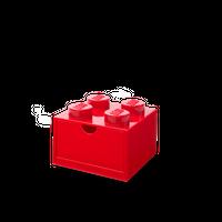 Bild LEGO Schreibtischschublade mit vier Noppen, rot Vorschau