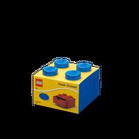 LEGO Schreibtischschublade mit vier Noppen, blau