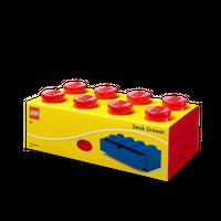 LEGO Schreibtischschublade mit acht Noppen, rot