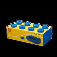 LEGO Schreibtischschublade mit acht Noppen, blau 001