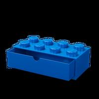 Bild LEGO Schreibtischschublade mit acht Noppen, blau Vorschau