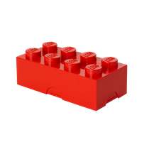 LEGO LUNCH BOX mit acht Noppen, rot
