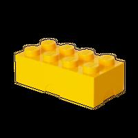 LEGO Brotdose/Lunchbox, mit acht Noppen, gelb