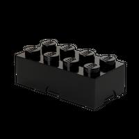 LEGO Brotdose/Lunchbox mit acht Noppen, schwarz 001